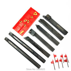 7pcs 12mm Shank Lathe Set Boring Bar Turning Tool Holder Kit With Carbide