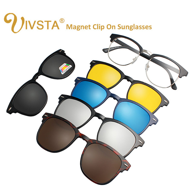 d5597ce3be IVSTA 3016 Magnet Sunglasses Clip Magnetic Clip on Sunglasses Men Polarized  Clips Custom Prescription Myopia night vision