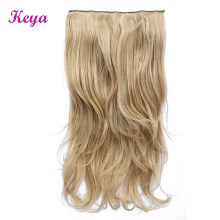 Keya Clip in Hair Extensions 4 Clips in One Natural Halo Hair Extensions 24 inch Synthetic Heat Resistant Fiber Hair Extensions(China)