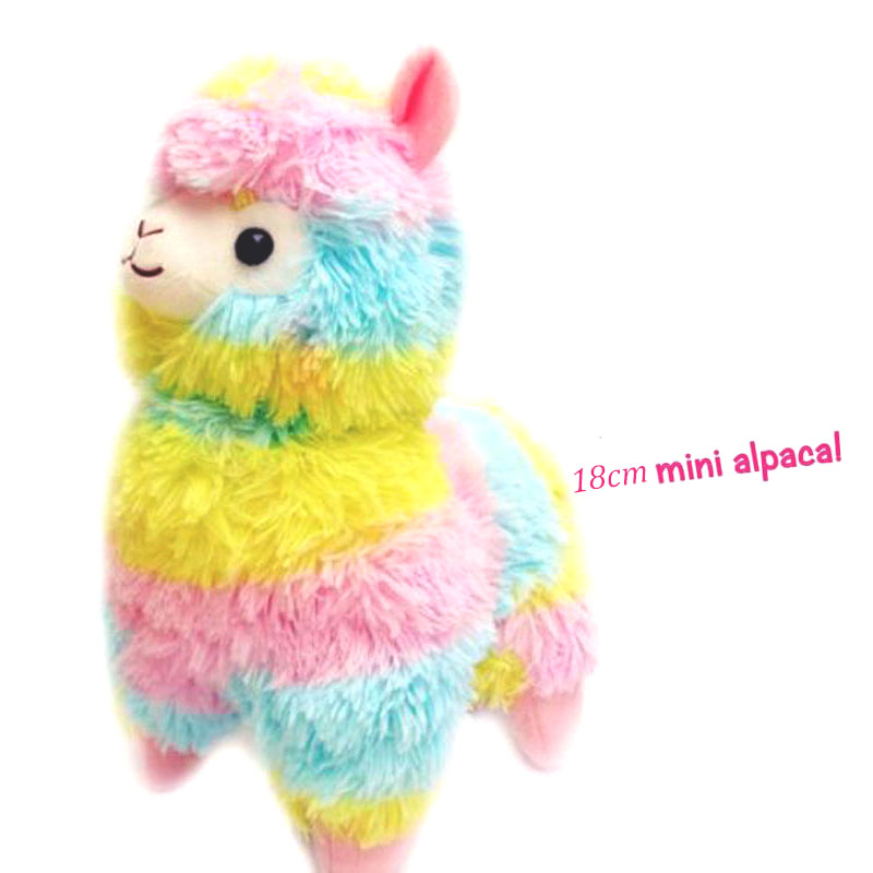 Children's 18cm Colorful Rainbow Stuffed Arpakasso Alpacasso Cute Alpaca Llama Plush Toys Cute Horse Kids Xmas Gifts