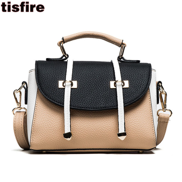 Tisfire Brand Double Arrows Postman Bag Vintage Designer Leather Handbags England School Top Handle Bags