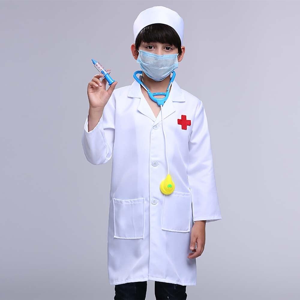 377b9d575a37 Children Doctor Role Play Costume 5 PCs Dress Up Set Doctor Lab Coat ...