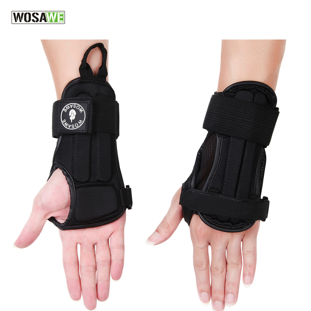 WOSAWE New Adjustable Wrist Support Brace Support Pads EVA Skiing Hand Protection Splint Fractures Sport Sprain Wristbands