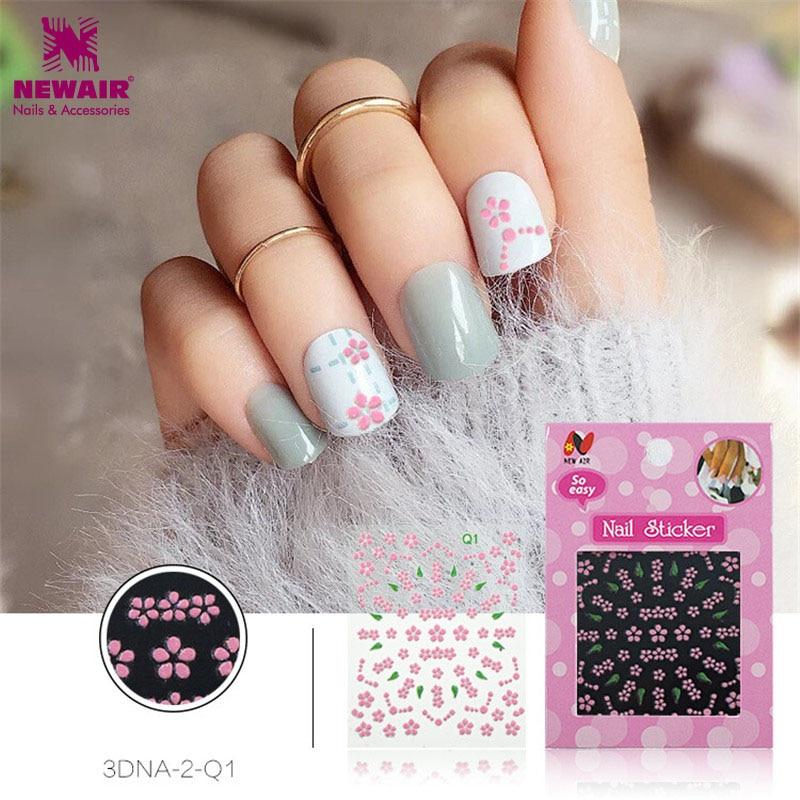 ⊹3D Pink Flower Designs DIY Decals Nail Art Stickers Wraps ...