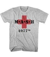 Summer Style Cotton Shirt Mash M A S H Red Cross Mens Short Sleeve T Shirt