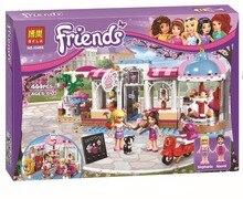 2016 New BELA Friends City Park Cafe Building Blocks Set Friends Minifigures Bricks Toys Compatible Legoe Friend For Girls 41119