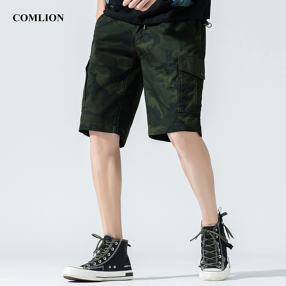 New Mens Baggy Shorts Casual Shorts Men Cargo Shorts Military Style Jogging Homme Training Tactical Green Work Shorts Camo F54