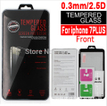 100PCS For iphone 7 plus Tempered Glass screen protector for iphone 7 plus TPU case