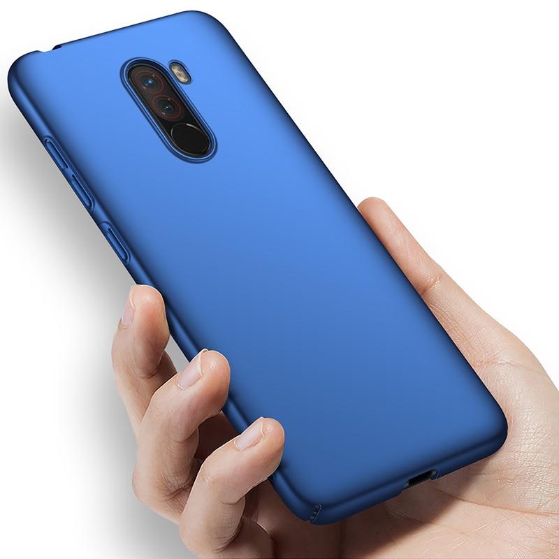For-Xiaomi-Pocophone-F1-Case-Hard-Matte-Back-Cover-Pocofone-Poco-F1-Slim-Shockproof-Skin-Single