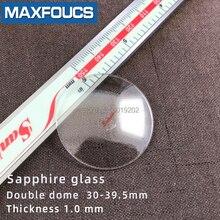 שעון זכוכית נגד שריטות ספיר כפול כיפת עבה 1.0mm קוטר 30 mm כדי 39.5mm