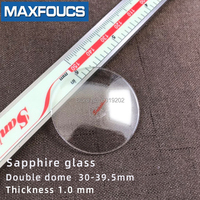 Relógio de vidro anti-zero safira dupla cúpula espessura 1.0mm diâmetro 30 mm a 39.5mm
