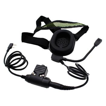 Professional Wired Headband Tactical Headset Single Track Earphone with Microphone for Interphone Walkie Talkie Головная гарнитура