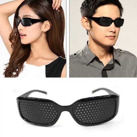 Seemfly Black Pinhole Sunglasses Anti-fatigue Vision Care Pin Hole Microporous Glasses Eye Exercise Eyesight Improve Anti-myopia Multan