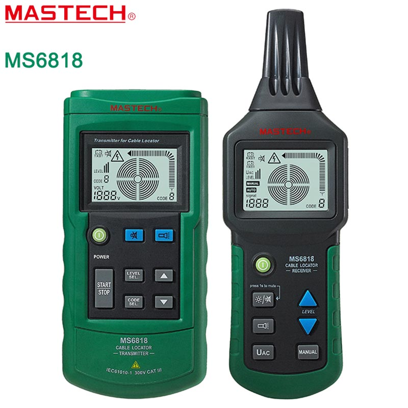 MASTECH MS6818 advanced wire tester tracker multi-function Cable detector 12~400V Pipe Locator Meter трассоискатель mastech ms6818