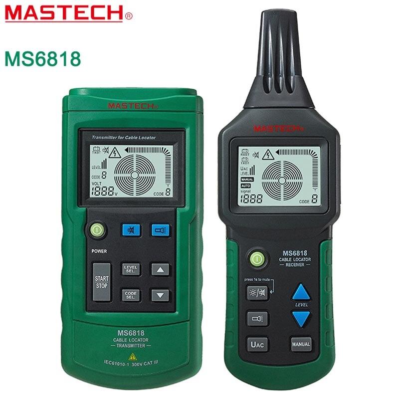 MASTECH MS6818 detector Cabo rastreador testador fio multi-função avançada Tubulação Localizador Medidor de 12 ~ 400 V