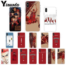 Yinuoda Slam dunk  TPU Transparent Phone Case Cover Shell for Apple iPhone 7 6 6S Plus X XS MAX 5 5S SE XR 8 Cover стоимость