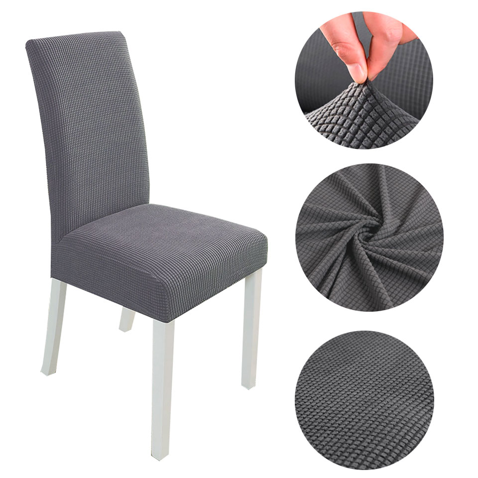 Modern Spandex Chair Covers For Kitchen Wedding Dining Room Polar Fleece Fabric Chair Cover Elastic Chair