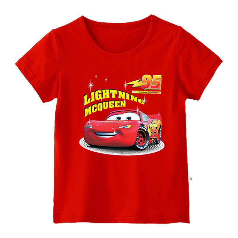 Новая летняя футболка для мальчиков с изображением машин хлопковая футболка с короткими рукавами детская одежда с рисунком для детей девочек