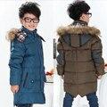De alta calidad! moda Infantil ropa de Invierno Gruesa Chaqueta de Plumón de Pato para Los Niños ropa de abrigo niños chaqueta de invierno niños prendas de abrigo