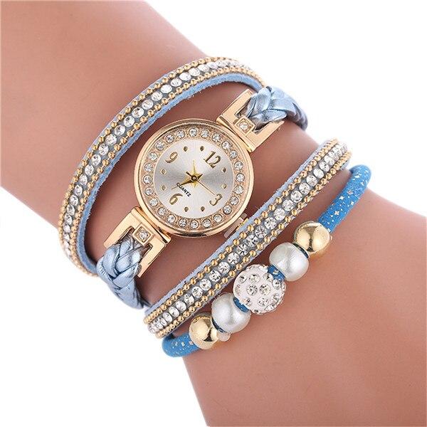 Relogio браслет часы для женщин обернуть вокруг модный браслет модное платье Дамские женские наручные часы relojes mujer часы для подарка - Цвет: Light blue