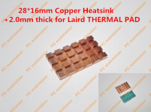 28*16mm Copper Heatsink+2.0mm thick for Laird THERMAL PAD Pure Copper MINI PCI-E Interface laptop Wireless Network Card HeatSink