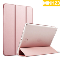 Ultra Slim Magnetic Smart Cover Leather Case With Matte Back Case For Apple IPad Mini 1