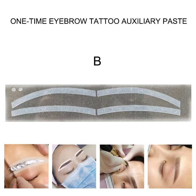 6 Pair Disposable Eyebrow Tattoo Shaping Auxiliary Sticker Templates Eyebrow Stencil KG66 2