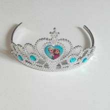 Disney Frozen Anna Elsa Cartoon Theme Headwear Baby Shwer Favor Party Decoration Girl Birthday Supplies