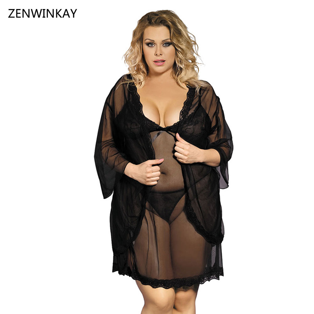 Online Get Cheap See Through Lingerie Nighty Plus Size -Aliexpress ...