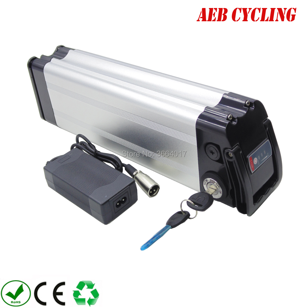 Free Shipping And Taxes To EU US Aluminum Case 36V 10Ah/20Ah Lithium Ion Ebike Battery Pack Silver Fish Electric Bicycle Battery