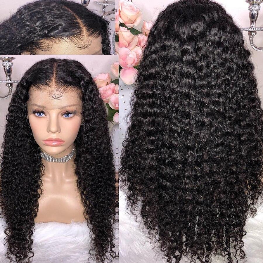 150% плотность Синтетические волосы на кружеве человеческих волос парики с ребенком волос естественной Цвет 13x6 бразильские Волосы remy предва...
