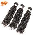 Qhp Hair Producto Brasileño de la Virgen Paquete Armadura Del Pelo Rizado Rizado Cabello Humano 100% 3 unids Porción Envío Libre Acuerdo de Paquete