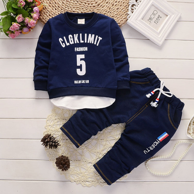 21e917ce3 BibiCola 2017 Baby Boys Clothing Sets Spring Autumn sports suit tops ...