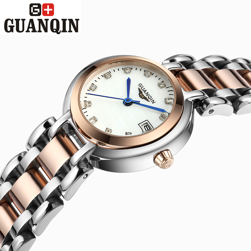 ФОТО Brand GUANQIN women's watches quartz watch women quartz-watch vintage business relogio feminino classic sapphire 17001