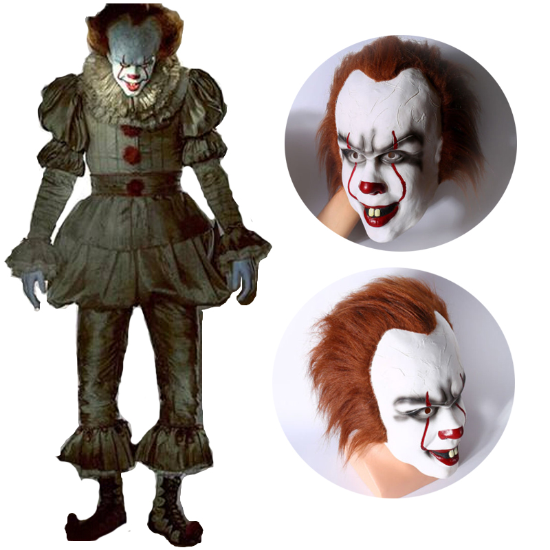 Stephen King It 2017 Movie Pennywise Cosplay Halloween The Clown ...