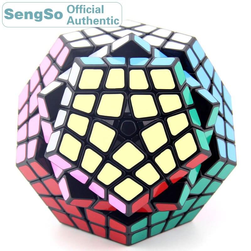 ShengShou Megaminxeds 4x4x4 Cube magique 4x4 Cubo Magico professionnel néo vitesse Cube Puzzle Antistress Fidget jouets pour enfants