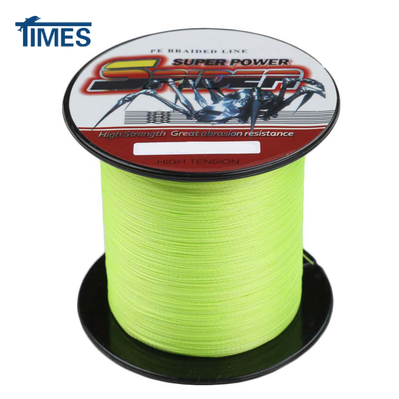 Brand 4 strands 100m 2000m 6 100lb fluorescent yellow for Fluorescent fishing line