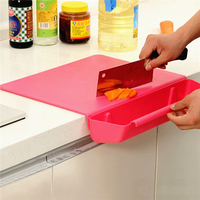 2-in-1 High Quality Thick Non-Slip Cutting Board With Vegetable Baskets Removable Combo Chopping Boards Kitchen Tool LJ323