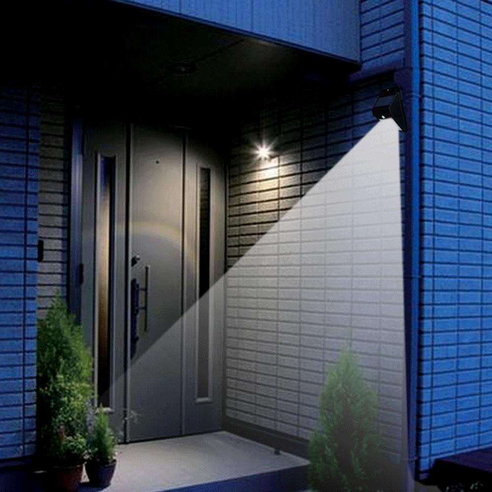 Solar Waterproof 12 LED Light Motion Sensor Wall Lamp White Color Auto ON/OFF for Outdoor Garden Fence Yard Garden Lamp DA