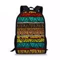 Customizeds школьные сумки для девочек и мальчиков ретро африканская традиционная книжная сумка для подростков Модные дорожные женские рюкзаки