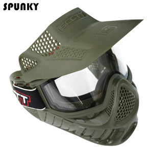 Image 2 - High Strength Paintball Mask or Airsoft Mask with Double Lens Goggle