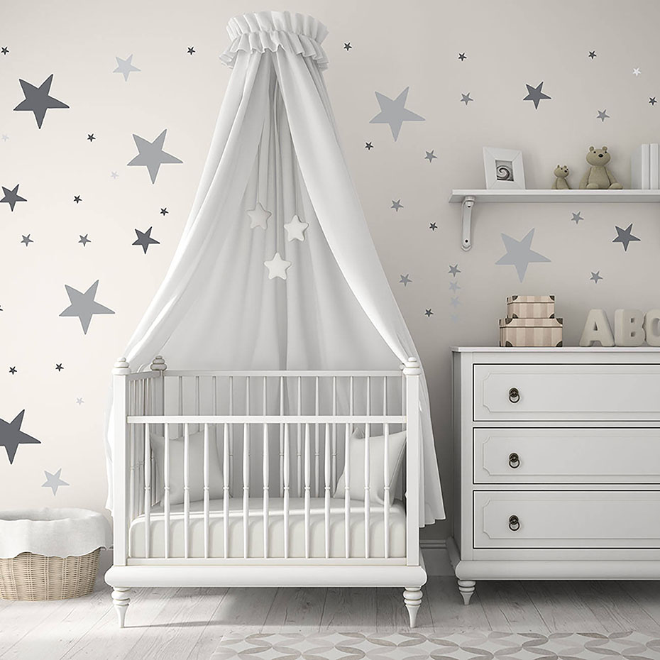 Us 2 73 17 Off Colorful Stars Polka Dots Vinyl Sticker For Wall Nursery Baby Room Decor Art Murals Removable Waterproof Wallpaper Home In