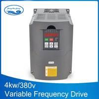 380 В 4 кВт 1 фаза вход и 380 В 3 фазы преобразователь выходных частот/электродвигатель переменного тока/VSD/VFD/50 Гц инвертор