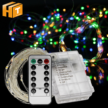 LED String Lights Battery Operate 5m 50LED / 10m 100LED Lighting Outdoor Indoor Decoration Christmas Light.