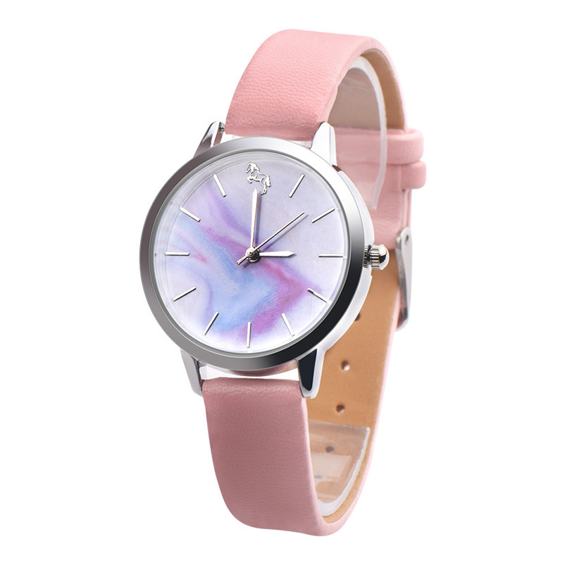 Fashion Casual Cute Watches Womens Girls Leather Band Analog Alloy Quartz Wrist Watch Unique Design Watch Gifts Relogio Feminino hot new fashion quartz watch women gift rainbow design leather band analog alloy quartz wrist watch clock relogio feminino