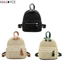 c9537b6023 New Summer Straw Women Rucksack Bohemian Beach Mini Shoulder Bag Teen  Schoolbags Weave Hollow Out Satchel