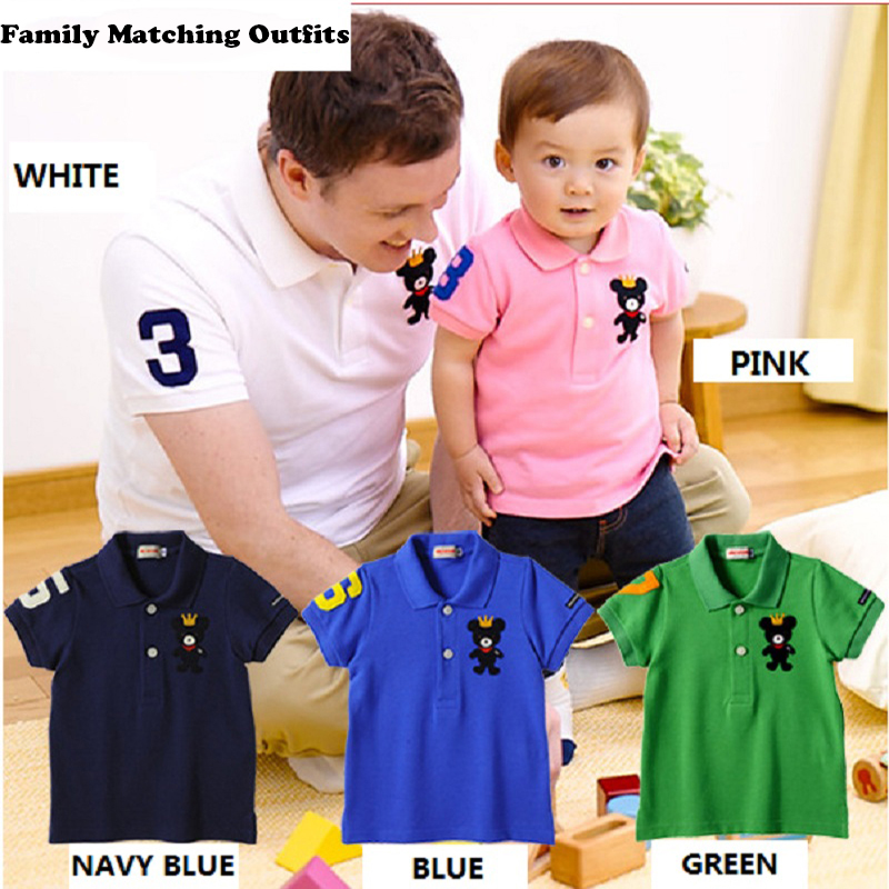 For Adults Miki Family Matching Polo Shirt 2018 Summer Short Sleeve Pure Cotton Lovely Parent Kid Outfit Men and Women Polo Tees