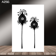 AZSG Two Small Flowers Clear Stamps/Stamp/For Scrapooking/Card Making/Silicone Stamps/Decoration  Crafts