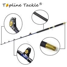 2018 TopLine Tackle BlueSpear Upgraded version Nylon Butt Trolling Rod  30# 5'6″ Game Fishing Trolling Rod