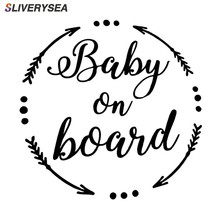 SLIVERYSEA BABY ON BOARD Baby In The Car Stickers Warning Vinyl Decoration